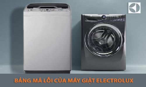 bảng mã lỗi máy giặt