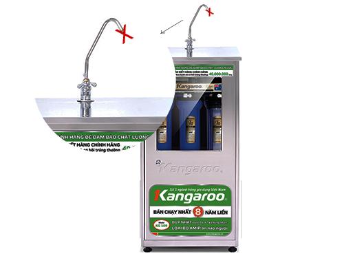 Máy lọc nước không có nước tinh khiết